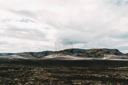 Photo for Scenic landscape with majestic natural formations and cloudy sky in iceland - Royalty Free Image