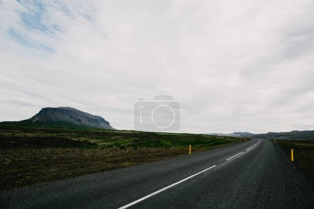 Photo for Empty asphalt road and beautiful icelandic landscape - Royalty Free Image