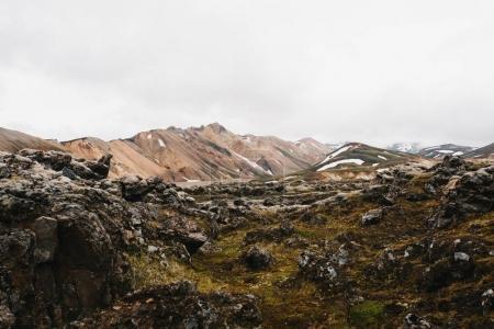 Photo pour Beau paysage de rochers et de montagnes en Islande - image libre de droit