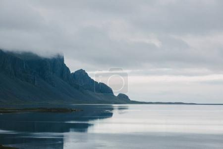 Photo for Beautiful scenic rocky mountains and seashore in iceland - Royalty Free Image