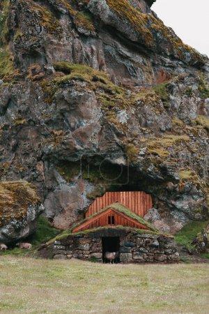 building at rock