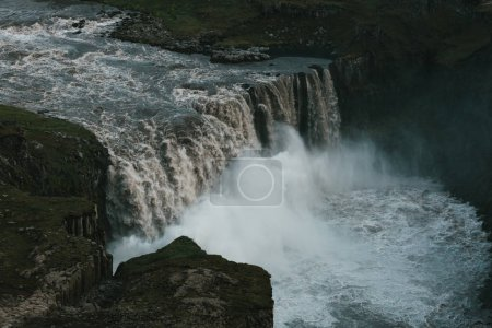 Photo for Magnificent view of powerful Dettifoss waterfall in iceland - Royalty Free Image
