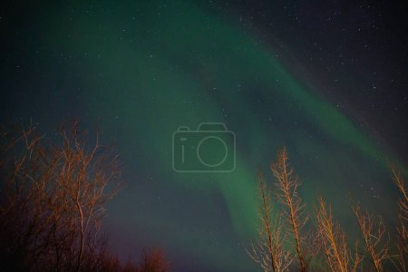 Photo for Spectacular view of night sky with northern lights in iceland - Royalty Free Image