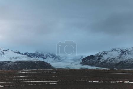 Photo for Beautiful scenic icelandic landscape and cloudy sky - Royalty Free Image