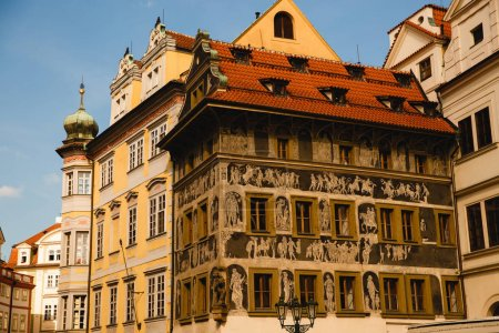Photo for PRAGUE,CZECH REPUBLIC - JUNE 23, 2017: Kafka family home on Old Town Square in Prague, Czech Republic - Royalty Free Image