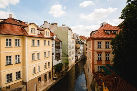 Photo for PRAGUE,CZECH REPUBLIC - JUNE 23, 2017: View of channel in old town in Prague, Czech Republic - Royalty Free Image