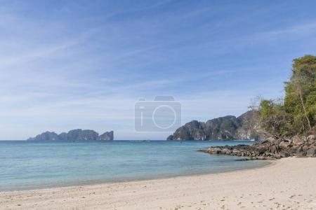Photo for Beautiful scenic view of clear blue sky and coastline, phi phi islands - Royalty Free Image