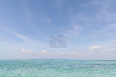 Photo for Beautiful scenic view of ocean and clear blue sky, phi phi islands - Royalty Free Image