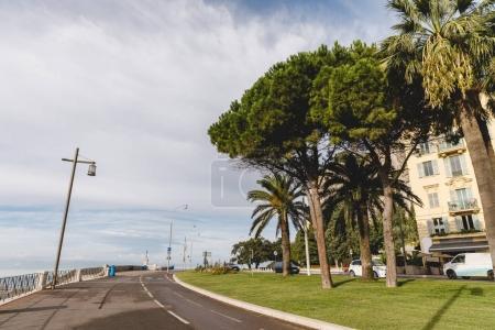 road on seashore