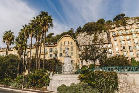 Photo for View of expensive houses at luxury district of small european town, Nice, France - Royalty Free Image