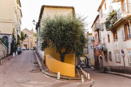 Photo for NICE, FRANCE - 17 SEPTEMBER 2017: split street at old european town - Royalty Free Image