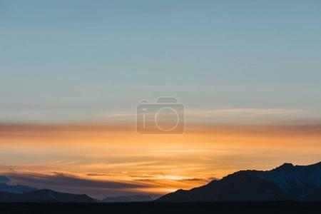 Photo for Beautiful scenic landscape with mountains and sky at sunset, snaefellsnes, iceland - Royalty Free Image