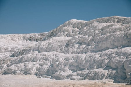 Photo for Famous white geological formations in pamukkale, turkey - Royalty Free Image