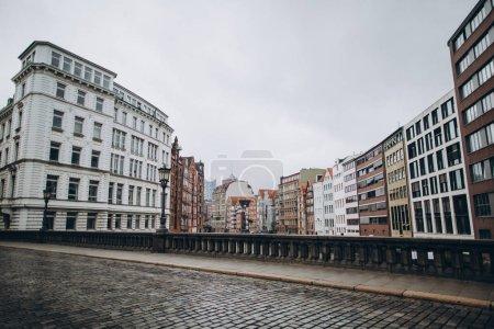 urban scene with beautiful architecture of hamburg city, germany