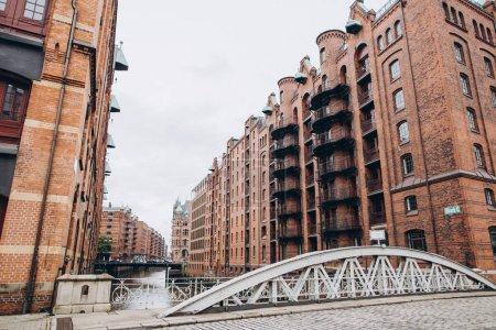 bridge and buildings