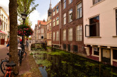 Delft, the netherlands, august 2019. The pretty and romantic can
