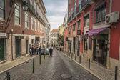 LISBON / PORTUGAL - FEBRUARY 17 2018: LISBON OLD CITY STREET