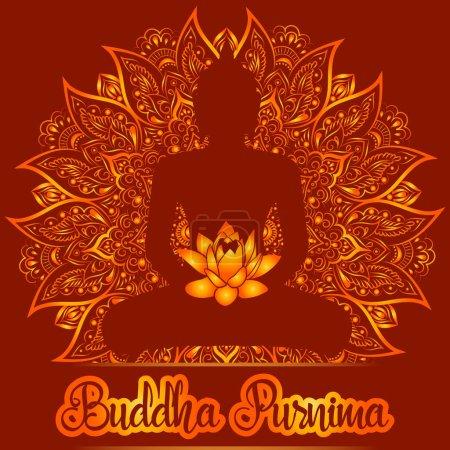 Vector illustration card for Buddha Purnima.