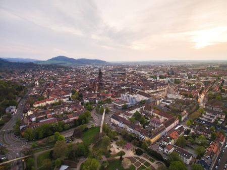Photo pour Vue aérienne de la belle ville d'Allemagne - image libre de droit