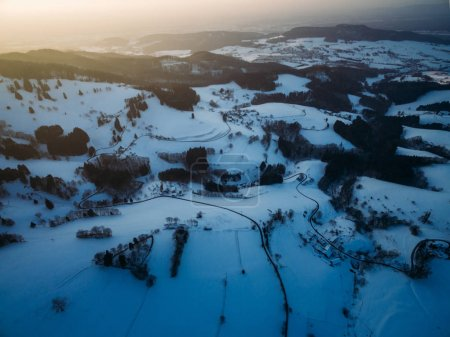hills at winter