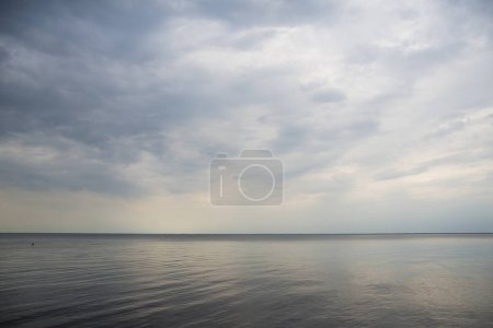 Photo for Calm sea and sky blue with clouds - Royalty Free Image