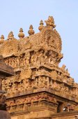 "Постер, картина, фотообои ""Резные гопурам храма Airavatesvara, Darasuram, возле Кумбаконаме, Тамилнад, Индия"""