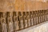 """Постер, картина, фотообои """"Резьба по дереву идолы на внутренней стене храма Airavatesvara, Darasuram, возле Кумбаконаме, Тамилнад, Индия"""""""