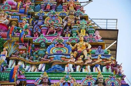 Sculptured facade of the Kapaleeshwarar Temple, Mylapore, Chennai, Tamil Nadu, India