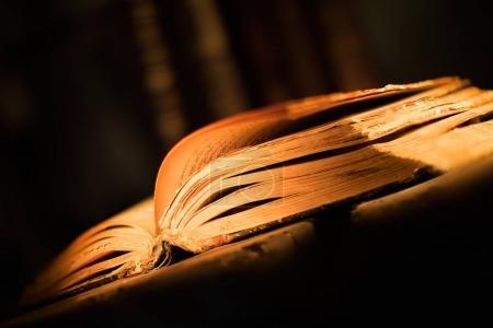 Photo pour Vieux livre avec pages ouvertes - image libre de droit