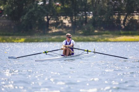 Athlete on a rowing competition