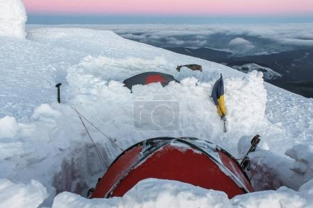 tents in snow
