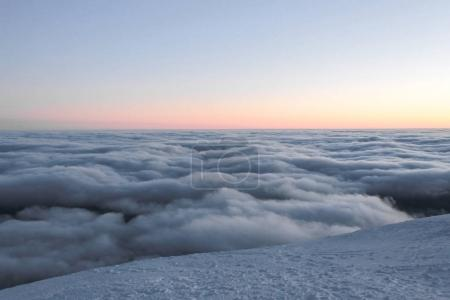 Photo for Beautiful view on cloudy sky during sunset, Carpathian Mountains, Ukraine - Royalty Free Image