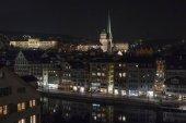 view of Zurich in evening, Switzerland