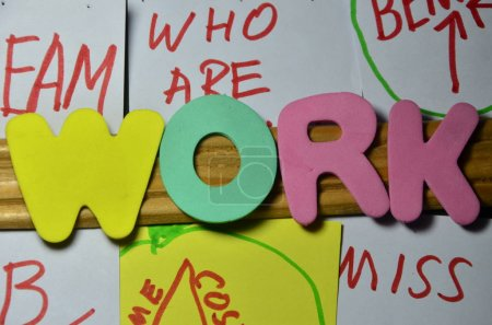 the word work on a  abstract