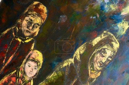 Natalia babkina Künstlerin, das Bild mit Ölfarben gemalt. Das Problem ist nur, dass die Menschen, die in der Türkei leben, nicht wissen, was sie tun sollen.