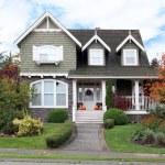Beautiful upscale house in Canada. Autumn scene, H...
