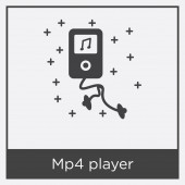 Mp4 player icon isolated on white background