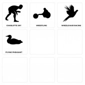 Set Of 9 simple editable icons such as cincinnati sky loon jeep wrangler