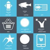 Set Of 9 simple editable icons such as On podiatry rising star