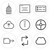 Set Of 9 simple editable icons such as Computing Retweet Folder Compass Warning Upload Menu Browser Garbage can be used for mobile web