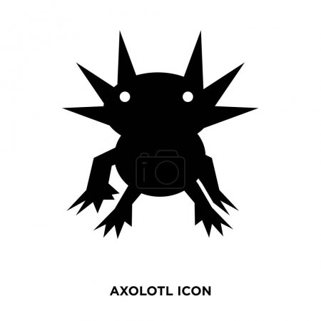 Axolotl icon vector isolated on white background f...