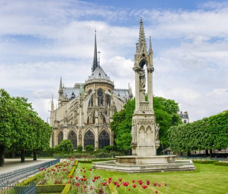 Eastern facade of the Cathedral Notre-Dame de Paris