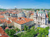 View from Old Town City Hall to north west, Prague