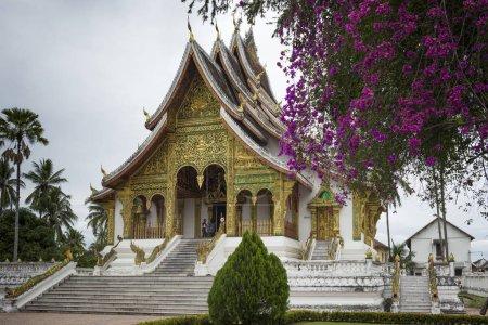 Facade of Royal Temple, Haw Pha Bang, Luang Prabang, Laos