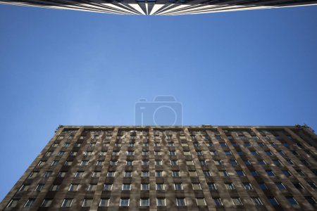 Photo for Modern building with a glass windiws, bottom view - Royalty Free Image