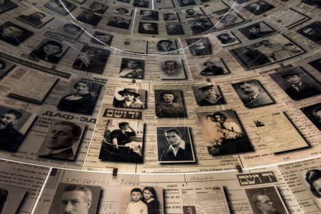 The Hall of Names containing Pages of Testimony commemorating the millions of Jews who were murdered during theHolocaust, Holocaust History Museum, Yad Vashem, Jerusalem