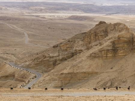 Highway passing through a desert