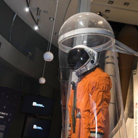 Photo for Figurine of astronaut in museum, Ilan Ramon Museum and Memorial, Makhtesh Ramon, Negev Desert, Israel - Royalty Free Image