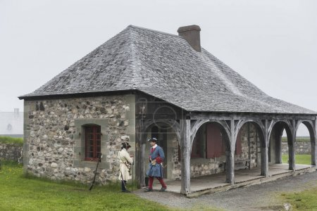 Security guards at Fortress of Louisbourg, Louisbourg, Cape Breton Island, Nova Scotia, Canada