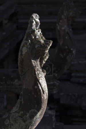 Close-up of sculpture at Hindu temple in Angkor Wat style, Banteay Samre, Siem Reap, Cambodia